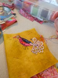 Viv's Fantailed Kantha Bird....