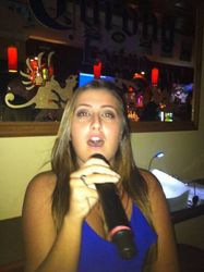 Brianna singing some Rihanna with us for the first time at Legendary Friday Night Karaoke!