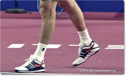 Tomas Berdych wears NIKE shoes