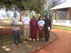 Patrick Auko (former Secondary School Headmaster), Eric, Bishop Mdegella, Mimi, Pastor Sagga