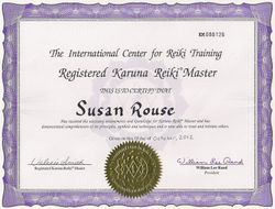 Karuna Reiki® Master Certificate