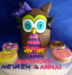 Owl cake and sugar cookies