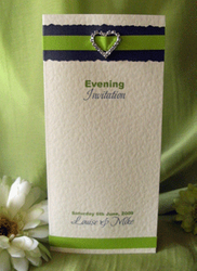 Lime Diamante Heart