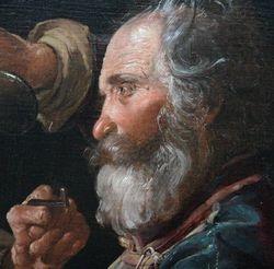 George de la Tour, Fighting Beggars, detail, Getty