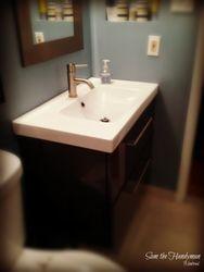Ikea Bathroom sink & Vanity installed