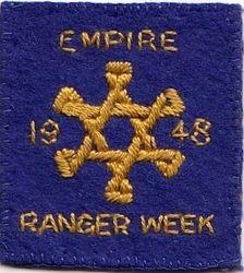 1948 Empire Ranger Week Badge