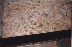 Slate shower pan-mosaic