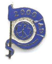2000 Millennium Metal Badge
