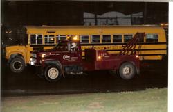 Bertha racing in the grain truck race!