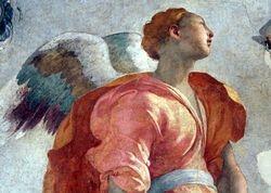 Pontormo, Annunciation, detail, S. Felicita
