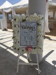 Table plan board with easel.