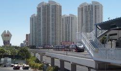 Monorail train scene at Sahara Station