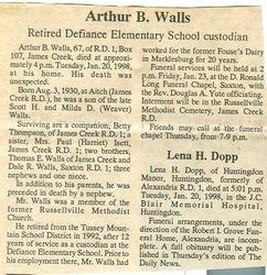 Walls, Arthur B. 1998