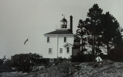 Discovery Island Light station in the 1900's