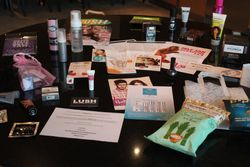 The goody bag contents - I don't know where to start!