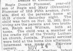 Plummer, Regis 1932