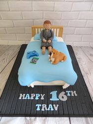 16th Birthday Bed Cake