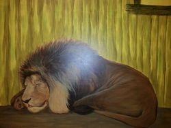 Safari Hut - Lion closeup