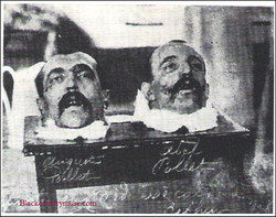 Guillotined Murderers. 1930s.