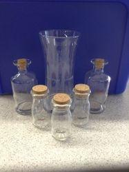 Sandblasted Personalized Wedding Unity Sand Bottles and Vase