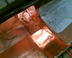 Copper sump outlet