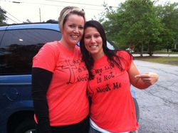 I love that Dawn and La both showed up somewhere wearing my shirt!