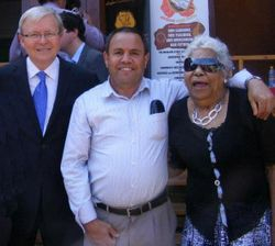 With Kevin Rudd and Elder Lois Goolagong