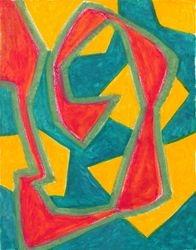 Angular Pathway, Oil Pastel, 11x14, Original Sold
