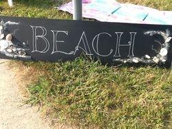 Foot BEACH Sign