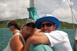 Will and Tam on board Aleria