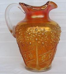 Orange Tree Orchard water pitcher, marigold