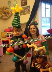 Christmas Balloon Show for daycare