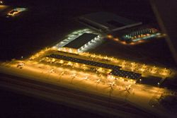 A Night Shot of March Inland Port (DHL Hub)