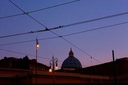 Dusk in Rome