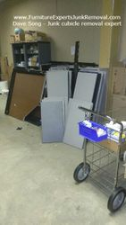 Junk office cubicle removal in frederick MD