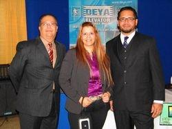 La Directora de APH con Ejecutivos de DEYA Elevators