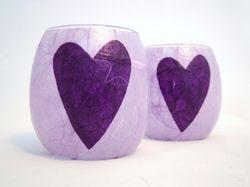 Mauve and Purple Folk Heart