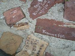Grafitti on a stone wall