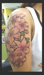 flowers tattoos by Ruben
