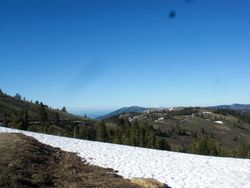 the road to Mt. Ashland