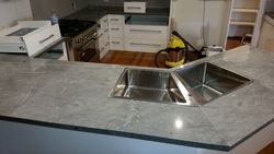 With stone benchtops installed.