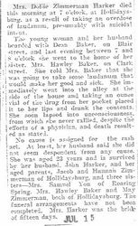 Harker, Dollie Zimmerman 1905