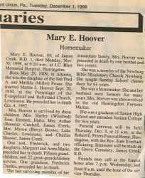Hoover, Mary E. Fouse 1998