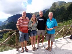 Us with Colin and Ron high up in the mountains