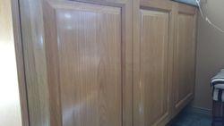 Re- Finish American Oak Kitchen Cupbourds