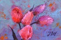 Tulips. Miniature - 2.