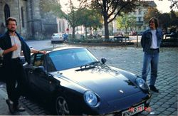 With Ulrich, Esslingen, Germany, 1995