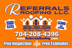 Referrals Roofing in Charlotte region