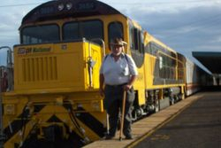 Tom and the Train I caught back to Brisbane - April 2007