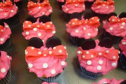 Mouse ear and bow cupcakes $4 each